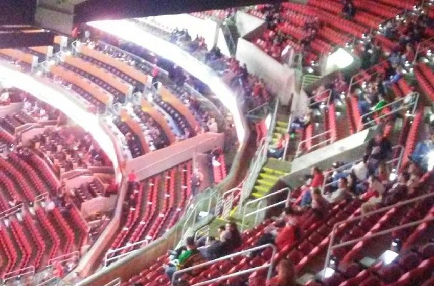 Embarrassing images of empty seats in Carolina for Hurricanes vs Blue Jackets.