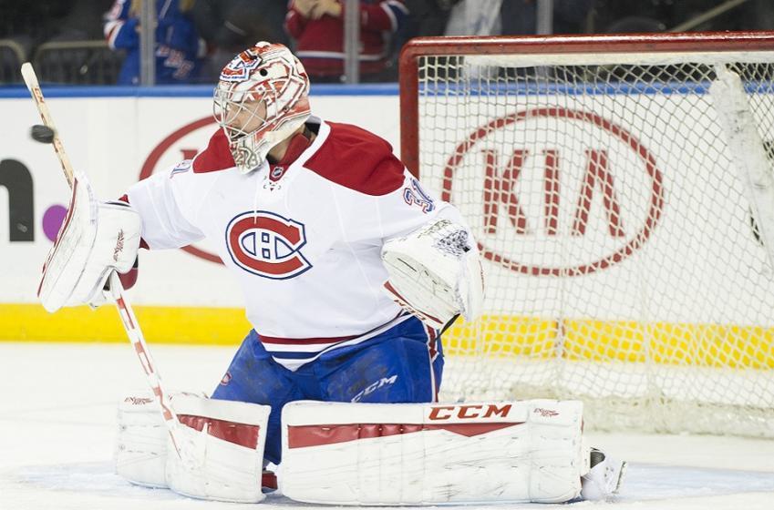 Breaking: Carey Price shaken up during warmups, has left the ice.