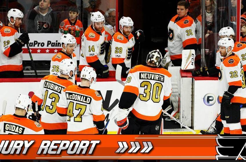 INJURY REPORTS: Very bad news regarding Flyers goaltender