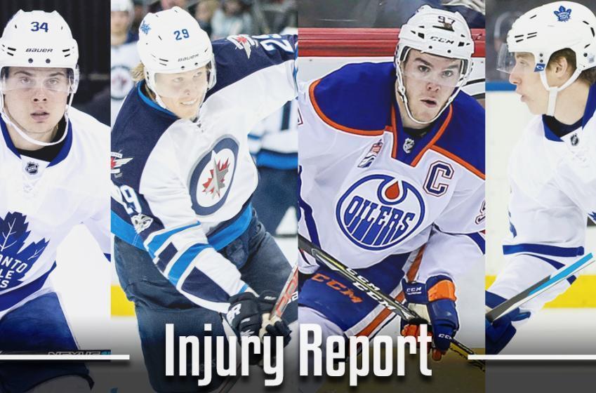 Injury Report: Calder trophy contender has been injured last night.