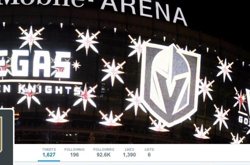 Vegas Golden Knights' Twitter account already killing it!
