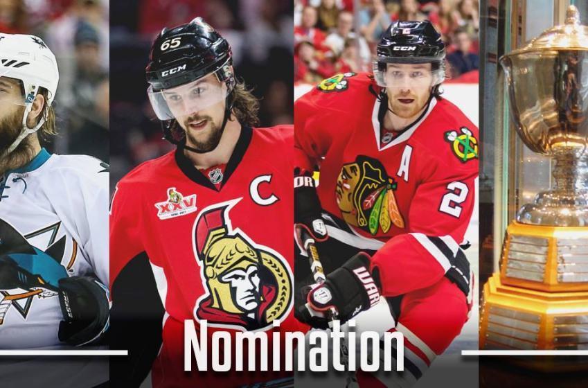 Ottawa Senator finalist for NHL trophy for third year straight