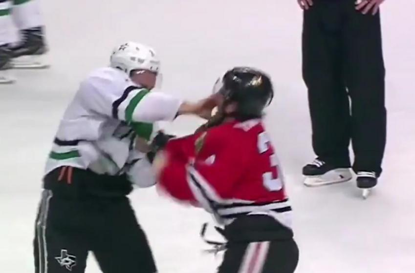 Intense fight when Hartman had enough.