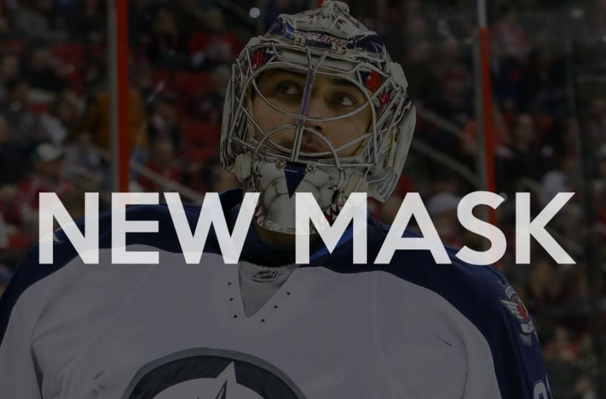 Ondrej Pavelec unveil his new mask!