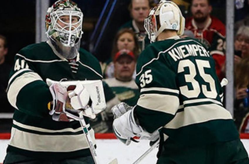 The Wild name their starting goaltender vs. Jets.