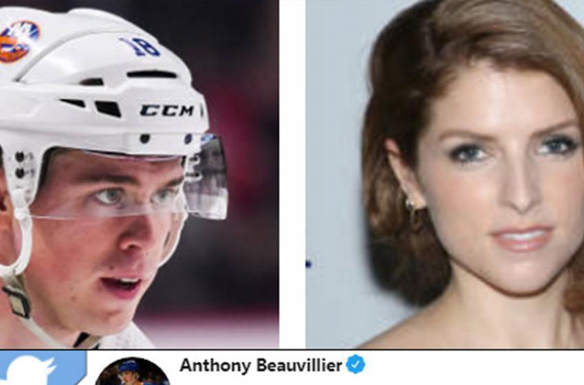 Anthony Beauvillier makes strange move on Anna Kendrick on Twitter!