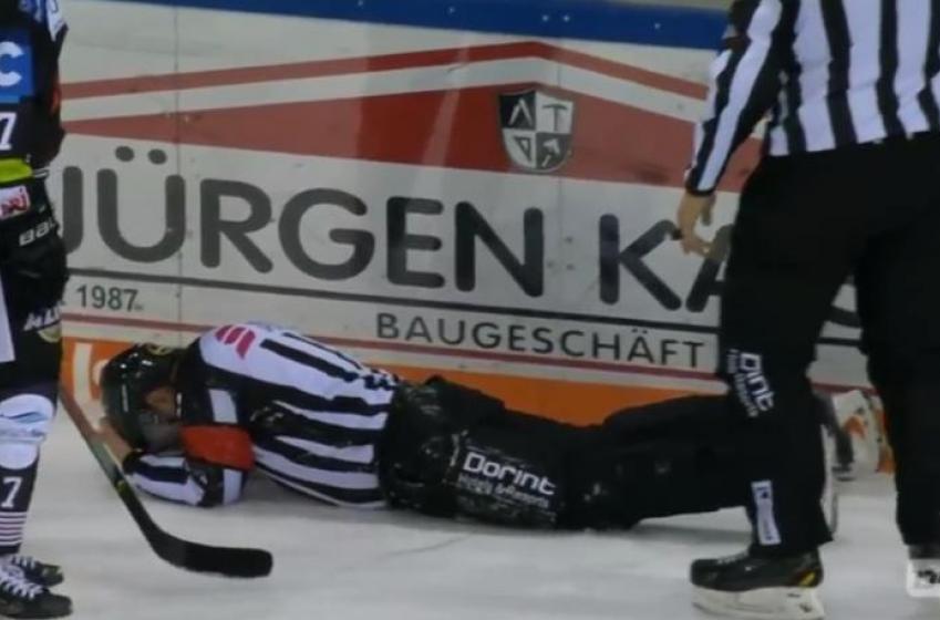 German league player facing discipline after shooting puck at referee