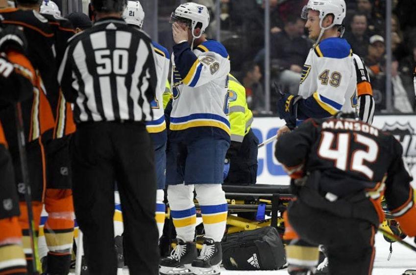 What happens in Blues vs Ducks postponed game?