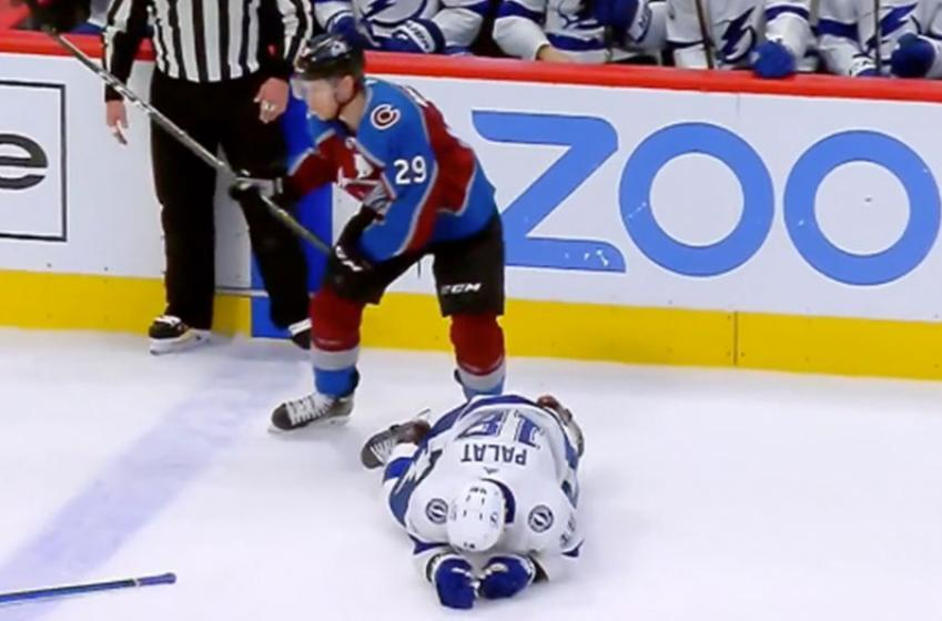 MacKinnon destroys Palat with a huge reverse hit