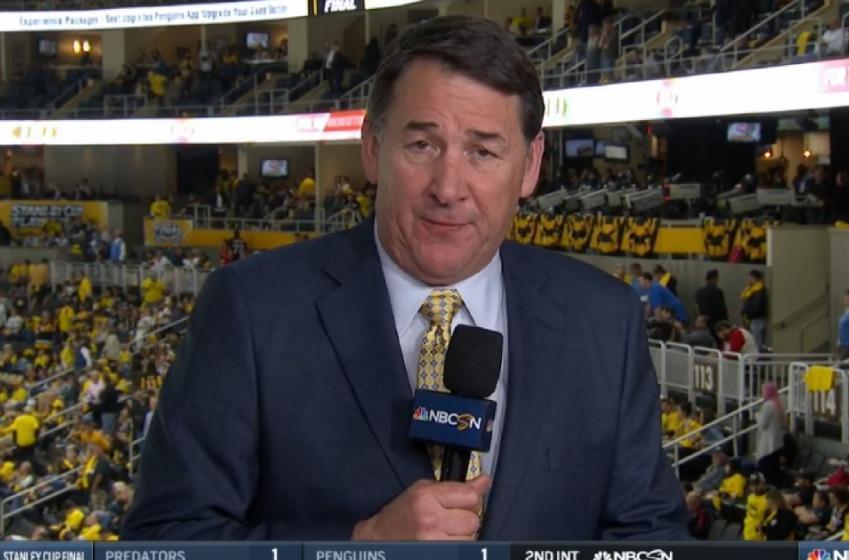 Keith Jones roasts Mike Milbury on the NBC broadcast.