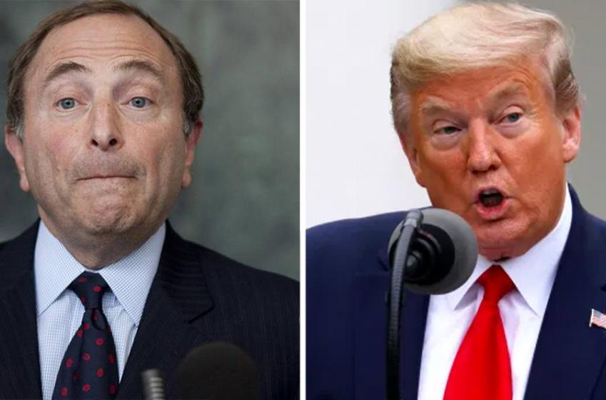 Trump meets with Bettman, plans the return of NHL hockey