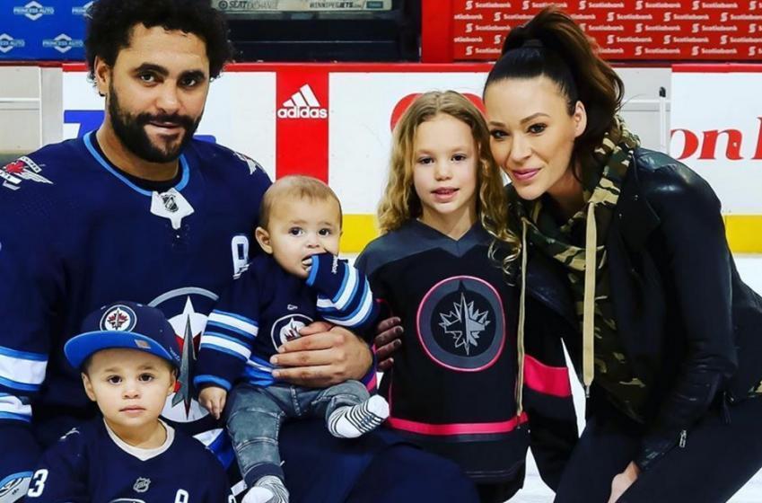 Dustin Byfuglien's wife sends emotional message to Winnipeg.