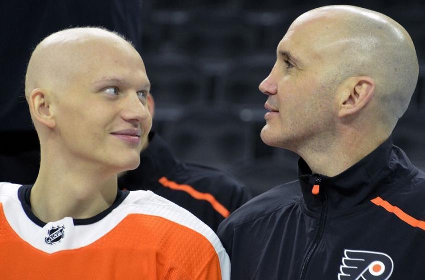 Oskar Lindblom is on the Flyers 31 man roster.