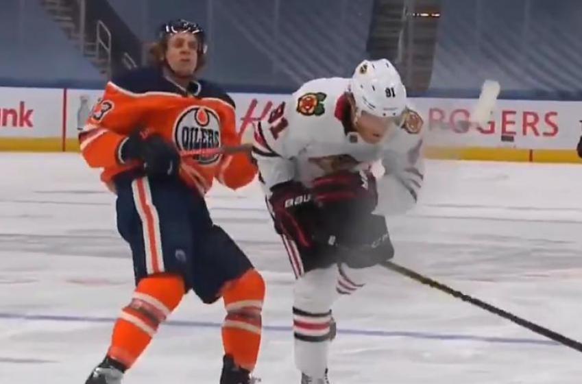 NHL Player Safety suspends Blackhawks forward Drake Caggiula.