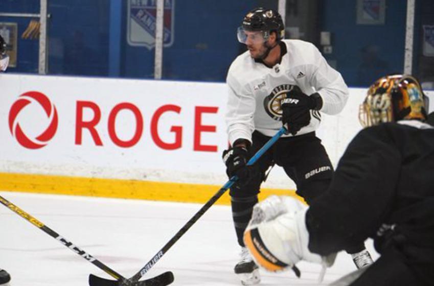 Bruins shake up lines, scratch rookie Studnicka