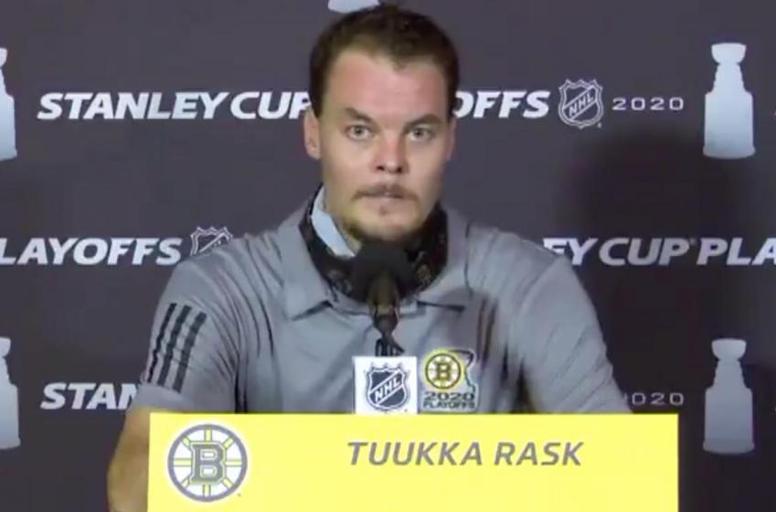 Tuukka Rask got a disturbing phone call before leaving the bubble!
