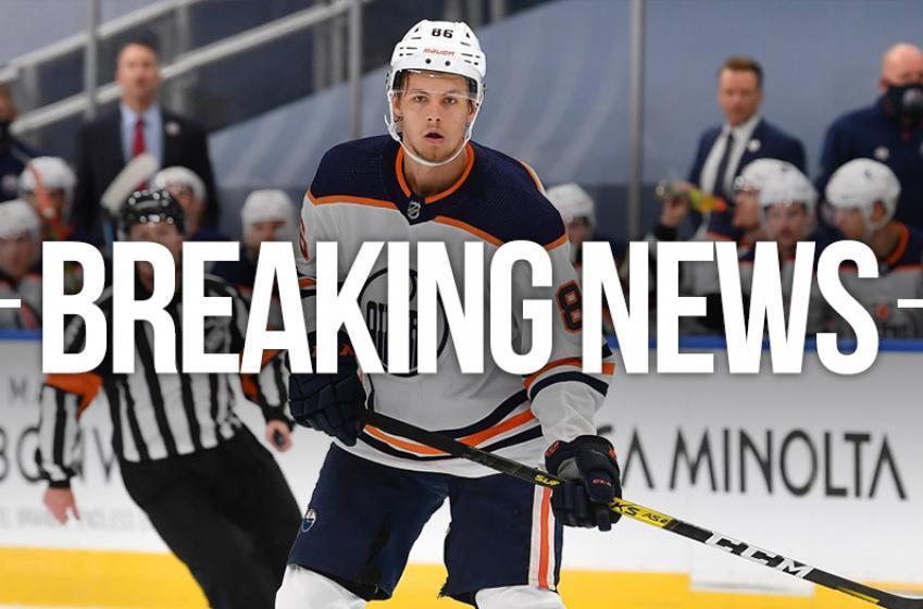 Oilers ship rookie Broberg to Sweden