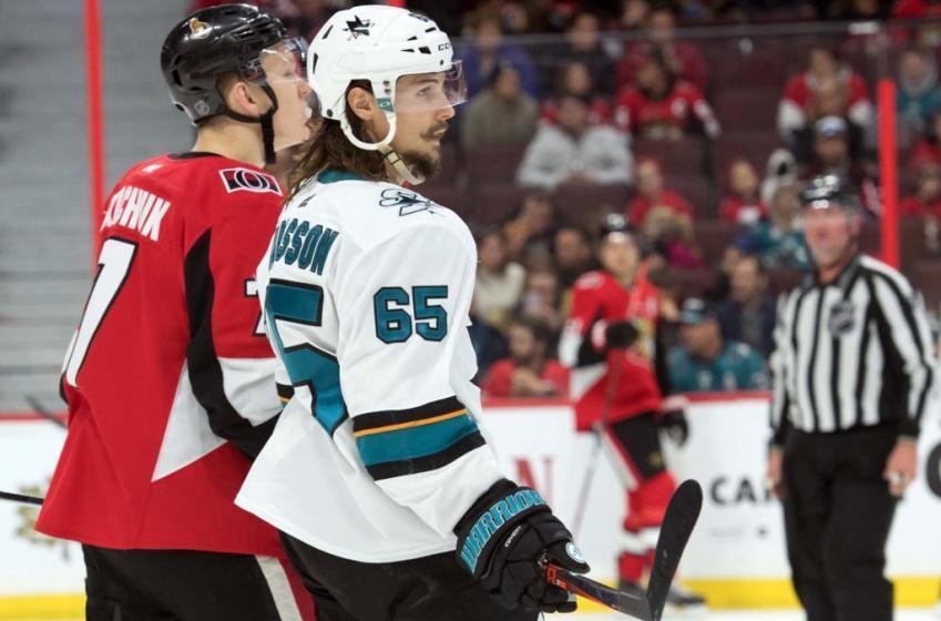 Erik Karlsson gets involved with the Senators